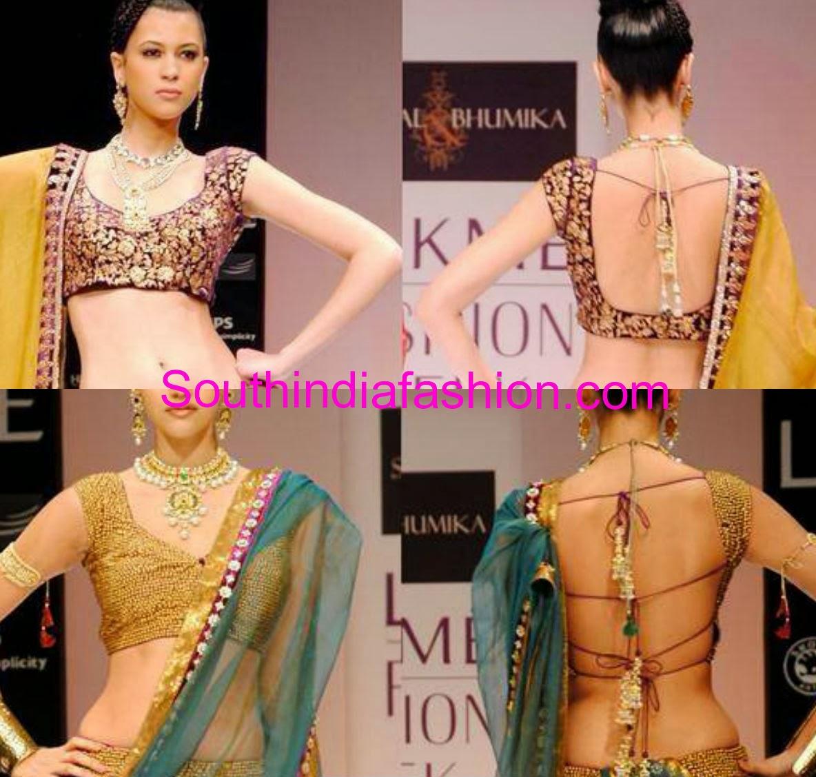 Blouse Back Neck Designs For Lehenga 100