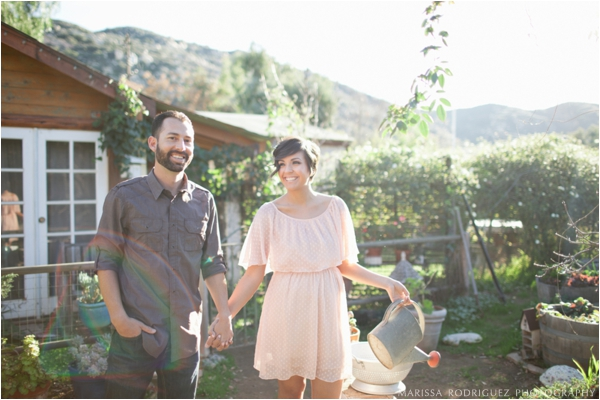 Organic Farm Engagement Session // Marissa Rodriquez Photography #engagement