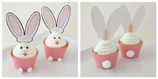semplicemente perfetto easter party pasqua conigli cup cake topper diy