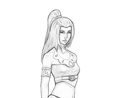 Avatar Azula Coloring Pages