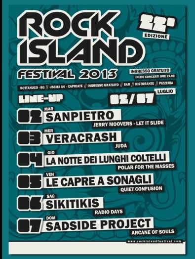 Festival Rock Island Bergamo concerti ad ingresso gratuito sabato 6 e domenica 7 luglio 2013