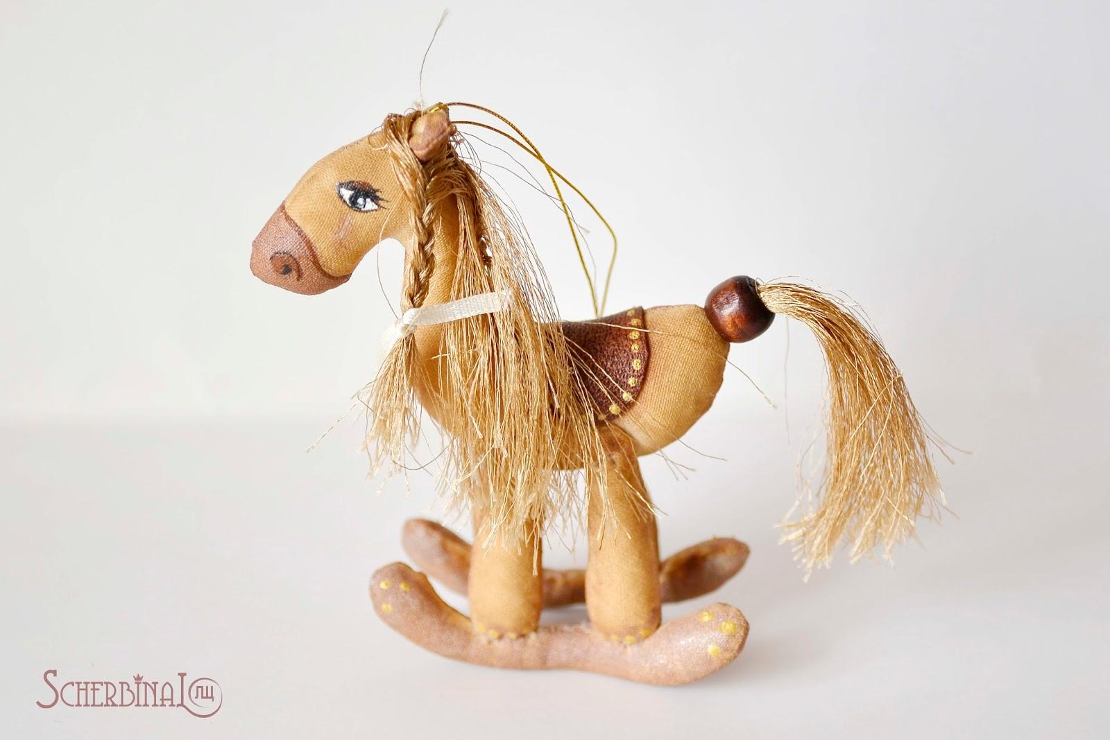 кофейная лошадка-качалка, игрушки на ёлку своими руками