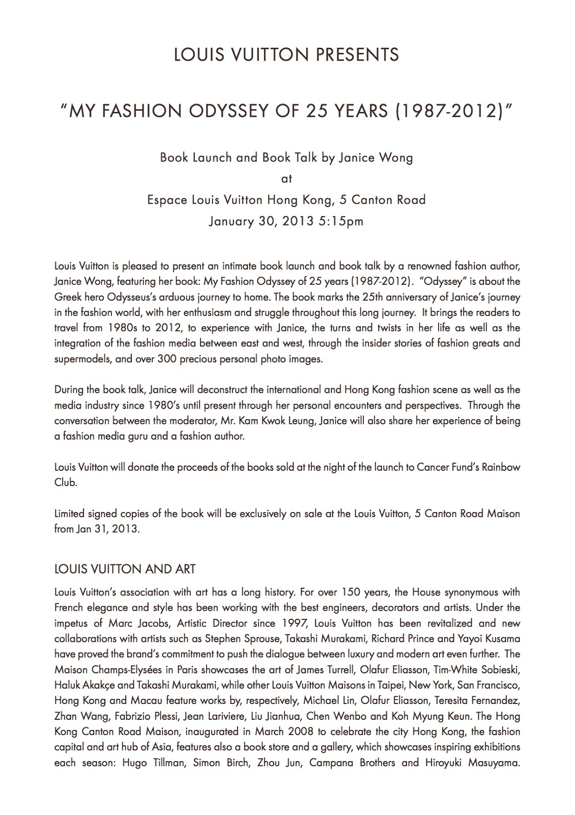 Janice Wong: My Book (2013)
