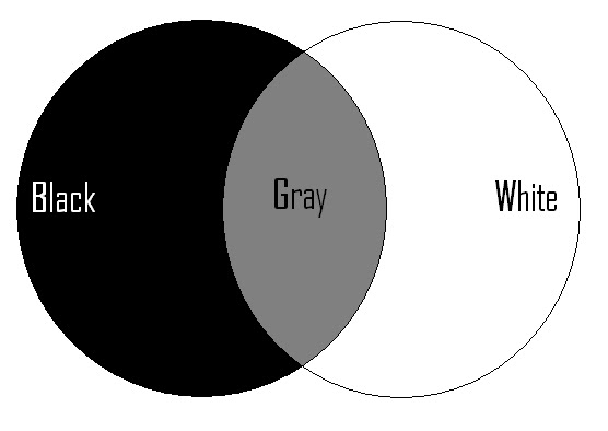 Inside the heart of a contradiction biopolarism everyone belongs in the gray but the blackwhite scenario within the venn diagram theory is when people try to stay in either one side or the other ccuart Images