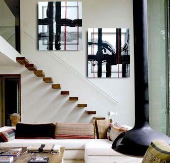 Decoraci n minimalista y contempor nea junio 2011 for Cuadros para departamentos