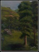 Pintura à óleo - quadro de Claudeth - 38x55
