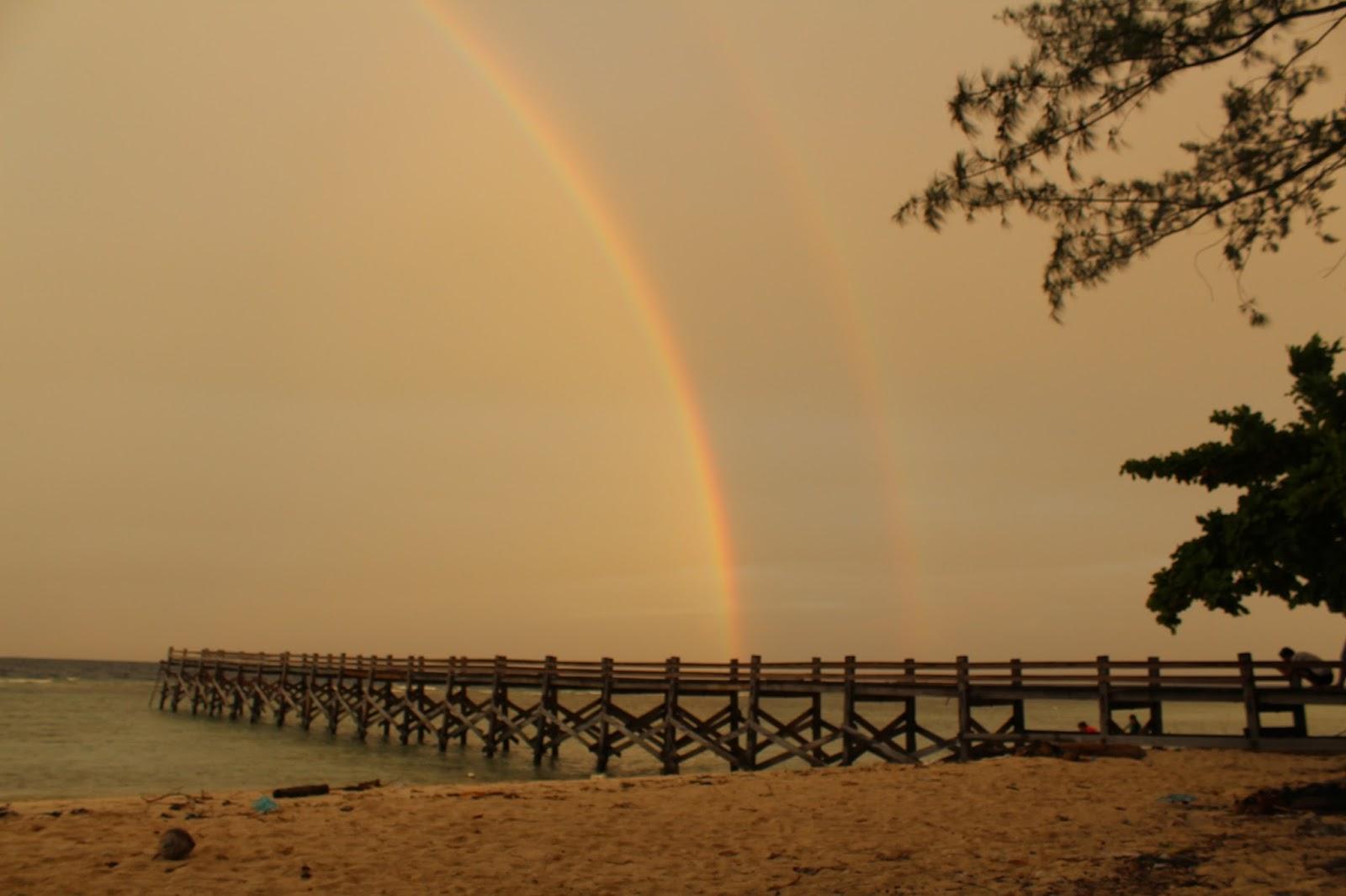 Sunset di Dermaga Cangke Island
