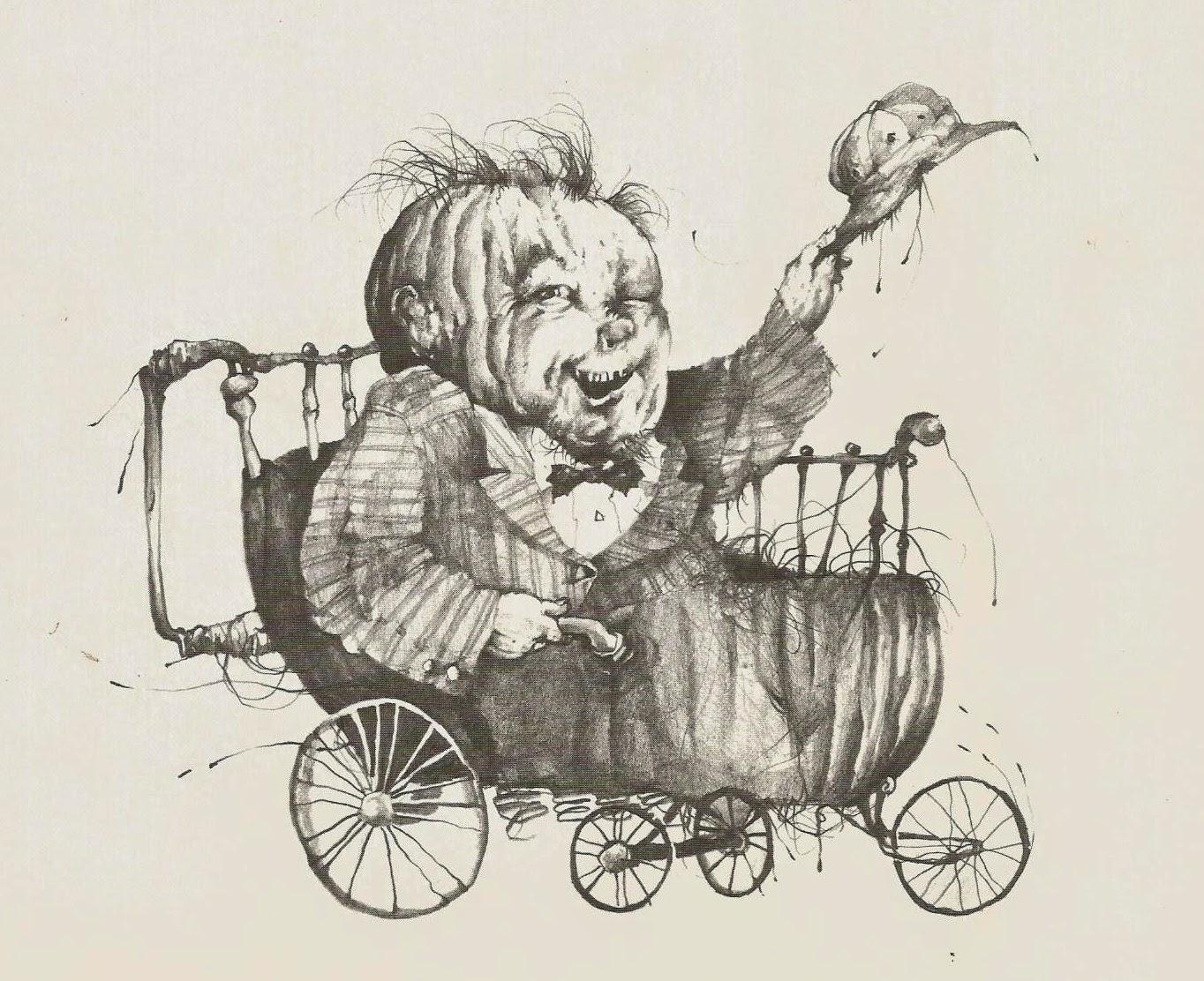 more stephen gammell: the eerie series & halloween poems
