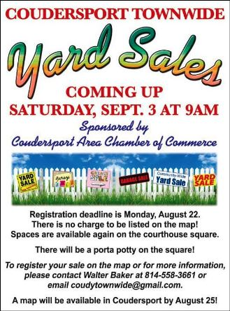 9-3 Coudersport Town Wide Yard Sales