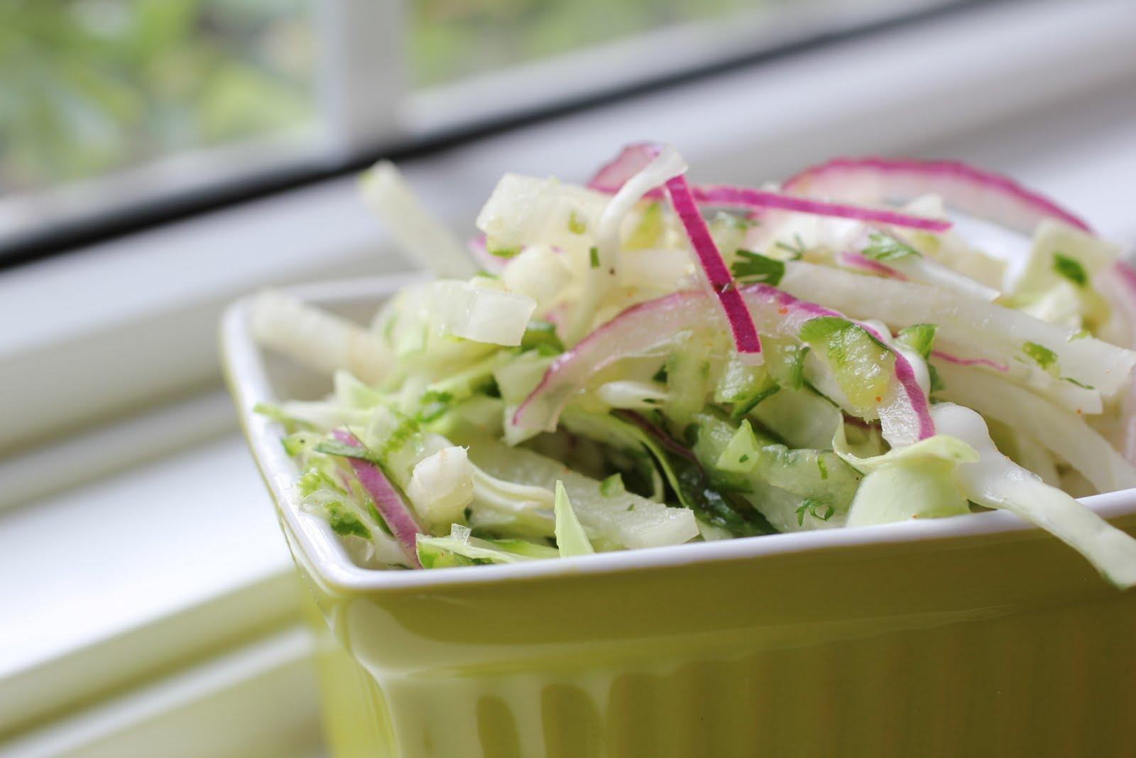 Jicama, Cabbage and Cucumber Slaw - Healthy Girls Kitchen Printable ...