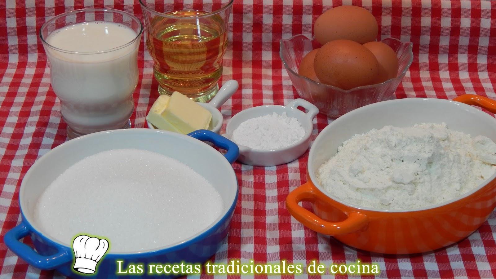 Receta fácil de bizcocho tradicional