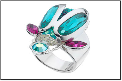bague translucent scarabee collection tropical swarowski
