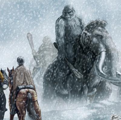 Gigante montado en mamut - Juego de Tronos en los siete reinos