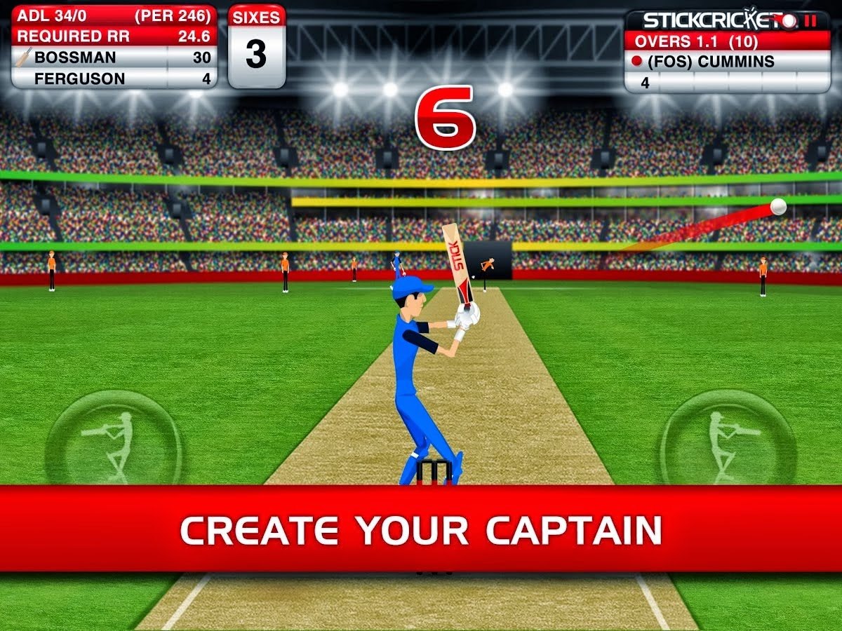 free stick cricket games