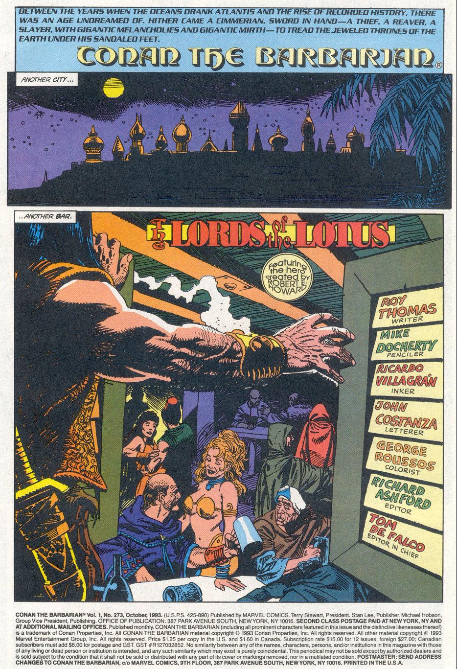 Conan the Barbarian (1970) Issue #273 #285 - English 2