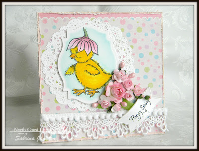 Stamps North Coast Creations Flower Bonnet Chick- Designer Sabrina Jackson