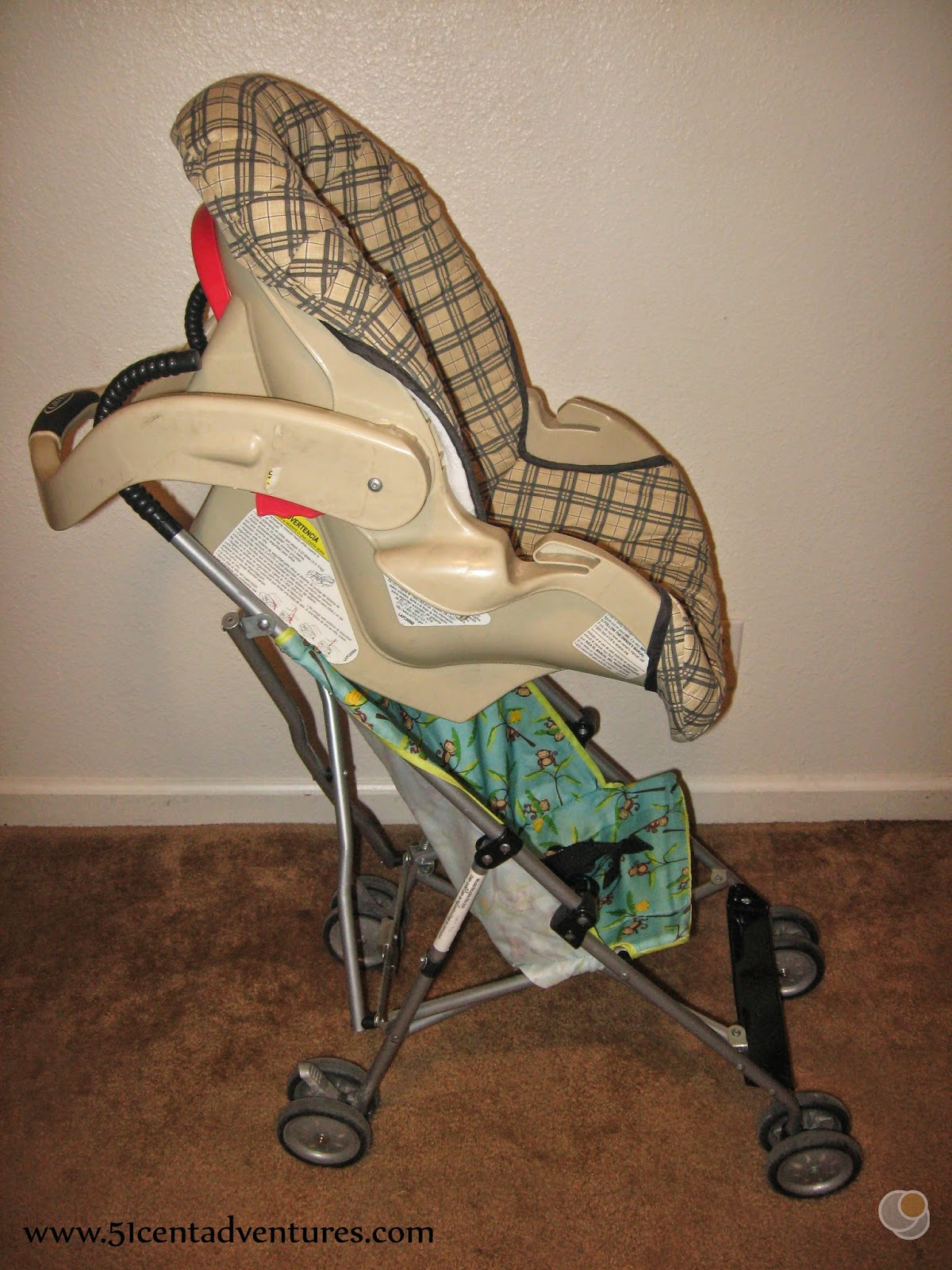 Step 3 Slide The Car Seat So Bottom Is Resting On Of Umbrella Stroller Make Sure Everything Secure And You Are Good To Go