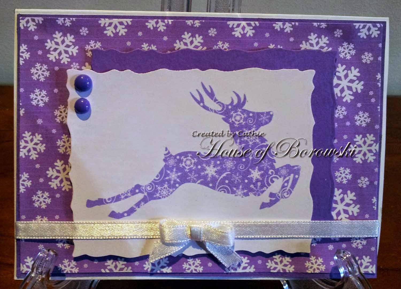 Diecut Divas, Bugaboo Snowflake Reindeer Silhouette