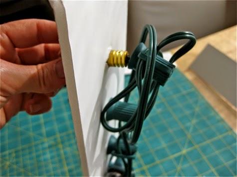 Colocación de bombillas para lámpara diy