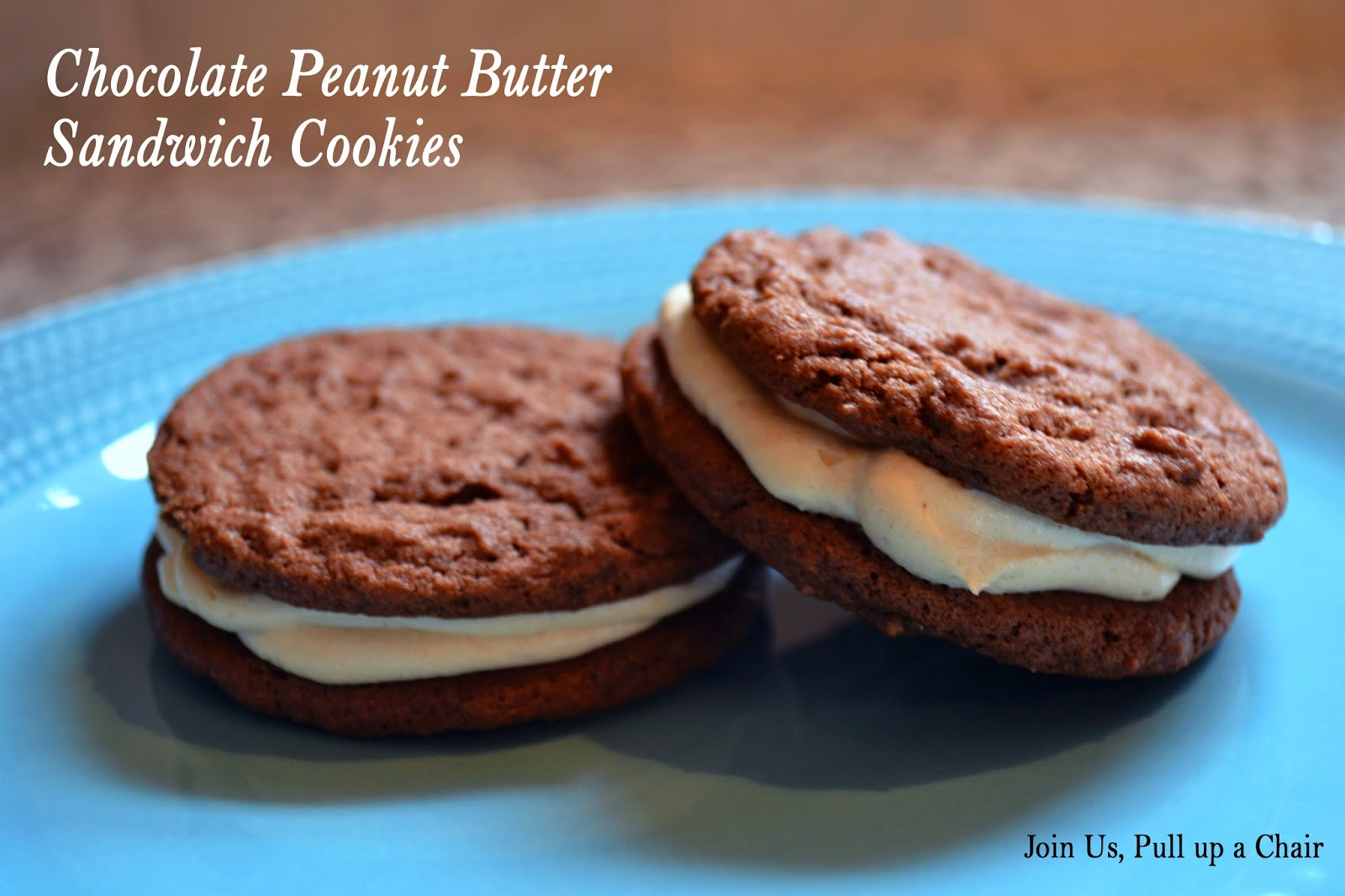 ... up a chair: Chocolate Peanut Butter Sandwich Cookies #FilltheCookieJar