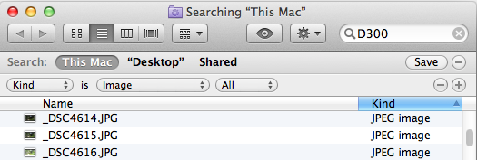 Searching EXIF Data With Mac OS X Spotlight