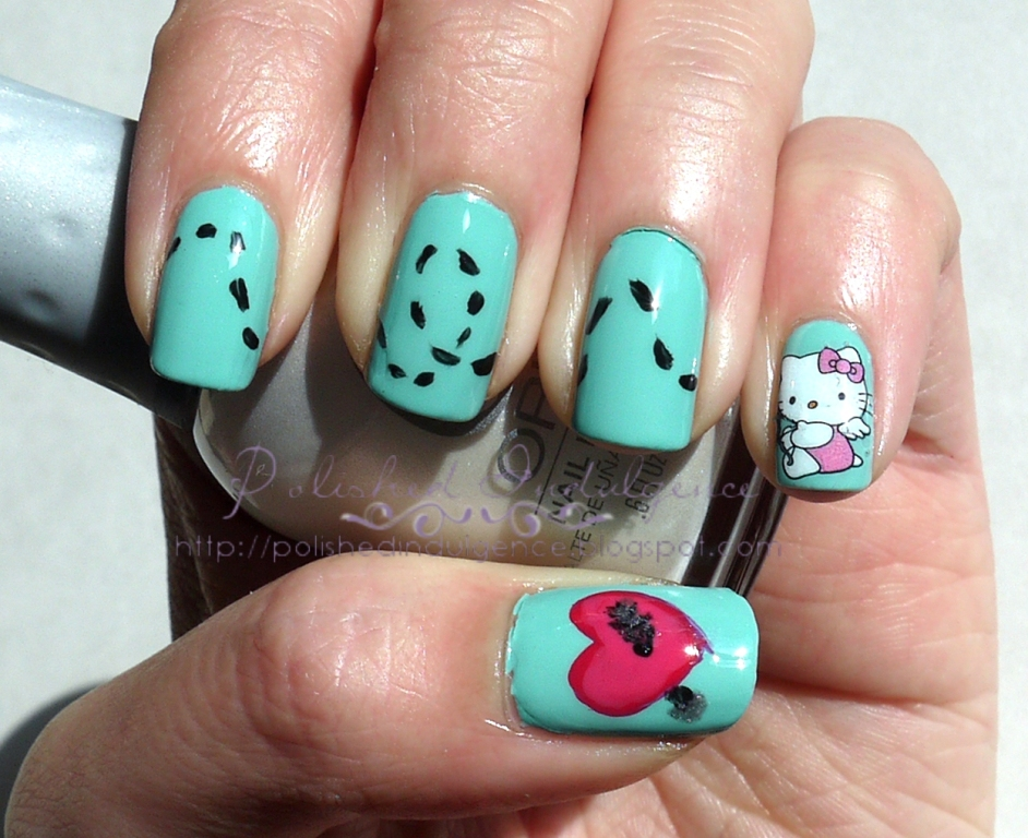 Polished indulgence nail art wednesday cupid nails nail art wednesday cupid nails prinsesfo Images