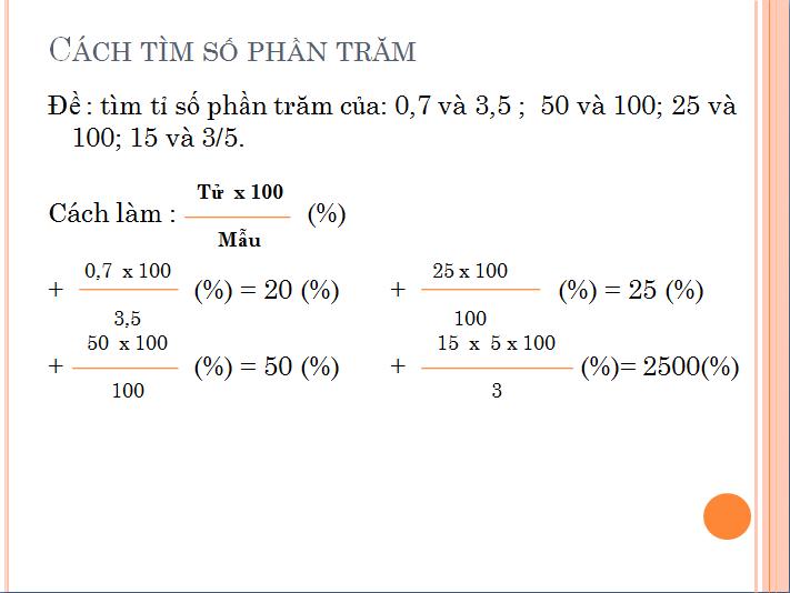 các bài toán về tỉ số phần trăm  - ôn tập toán lớp 5