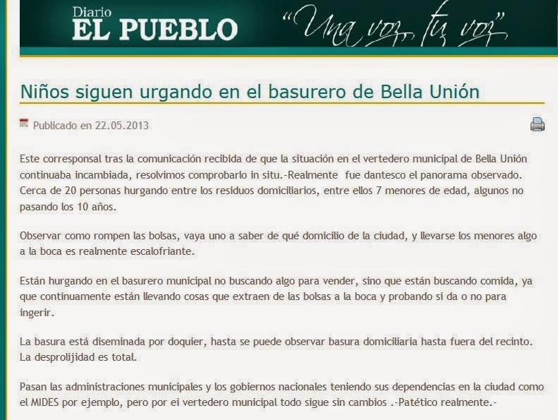 El Muerto |||: Hurgando comida en el vertedero de Bella Unión