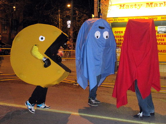 Pac-Man Halloween Costume plus Ghosts