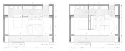 V+M Arquitectos Valencia Concurso Viviendas EMVS Planta tipo