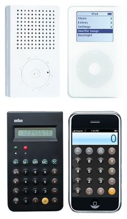 Comparison of Braun and Apple products which shows clear inspiration