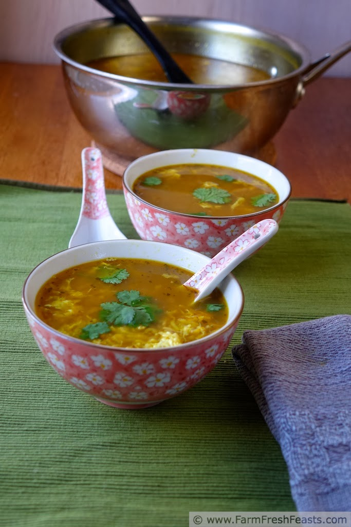 Farm Fresh FeastsThai Turkey Cold Busting Hot and Sour Egg Drop Soup