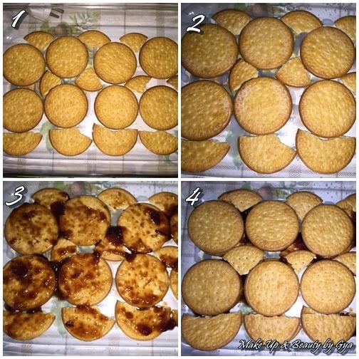 Tarta con galletas maria