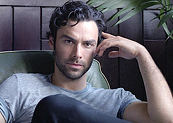 Aidan Turner looks in a good mood after Lieutenant of