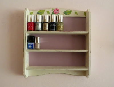 kirsty elizabeth loves upcycled nail polish shelves. Black Bedroom Furniture Sets. Home Design Ideas