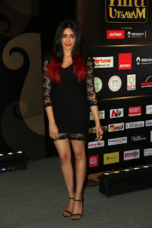 Actress Adah Sharma Stills in Black Lace Short Dress at IIFA Utsavam Press Meet Event 2015  0015.jpg