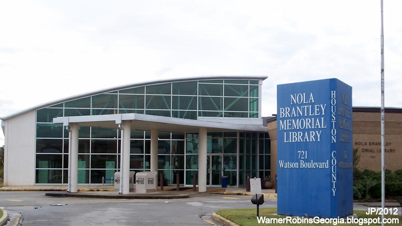 LIBRARY Nola Brantley Memorial Library Warner Robins Georgia Watson ...
