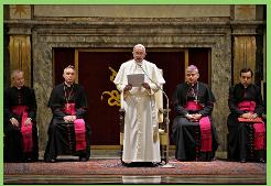 Papa sostiene que la Curia sufre de ´´alzheimer espiritual´´ y otras enfermedades