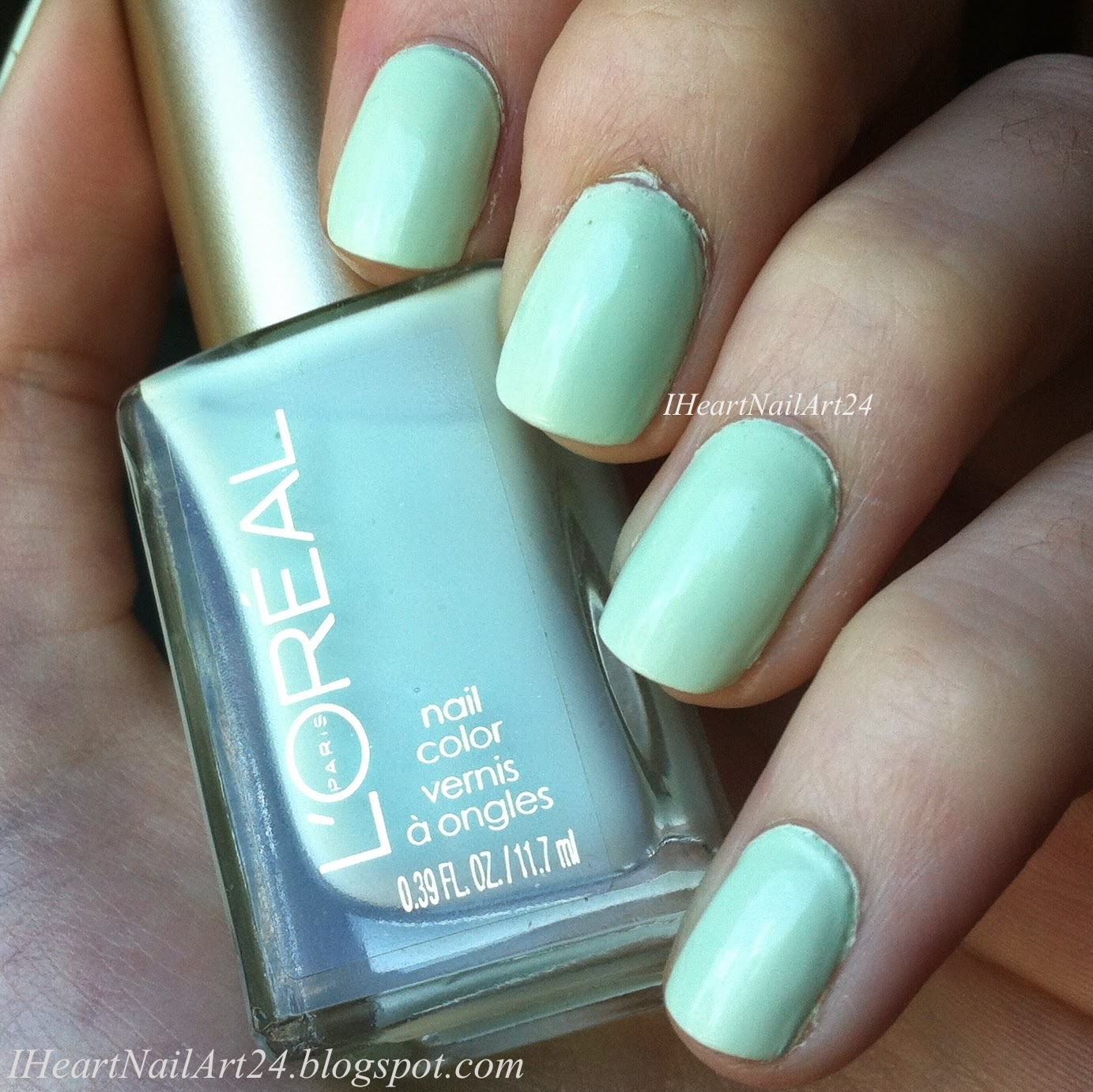 L\'Oreal Paris Mint Glacee Swatches & Review | I Heart Nail Art