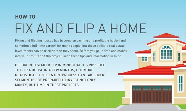 How to fix and flip a home infographic visualistan for Become a house flipper