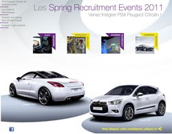 psa peugeot citro n lance les spring recruitment events marque employeur. Black Bedroom Furniture Sets. Home Design Ideas