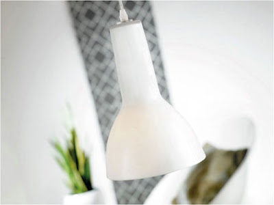 The Stylish White NX130 Glass Pendant - Miso Pendant 72563011 with Metal and Glass