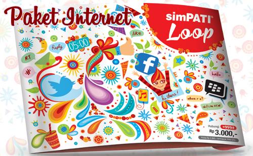 Cara Daftar Paket Internet Kartu Simpati LOOP Terbaru