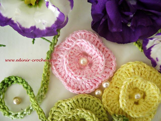flores em croche da coleção aprendi e ensinei com Edinir-Croche dvd video aulas loja