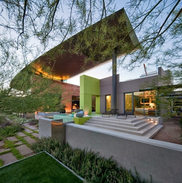 Ground floor terrace in Multimillion modern dream home in Las Vegas