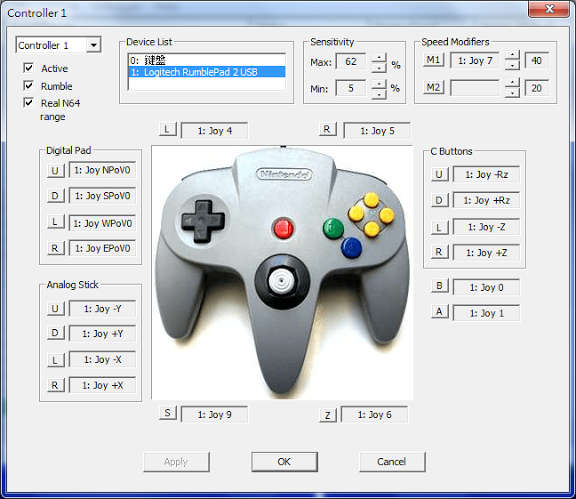 project64 how to play with controller