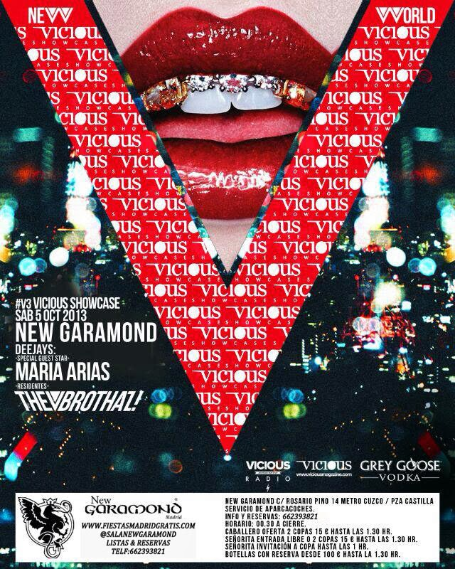 NEW GARAMOND SÁBADO, 5 DE OCTUBRE: VICIOUS SHOWCASE - MARÍA ARIAS + THE V BROTHAZ