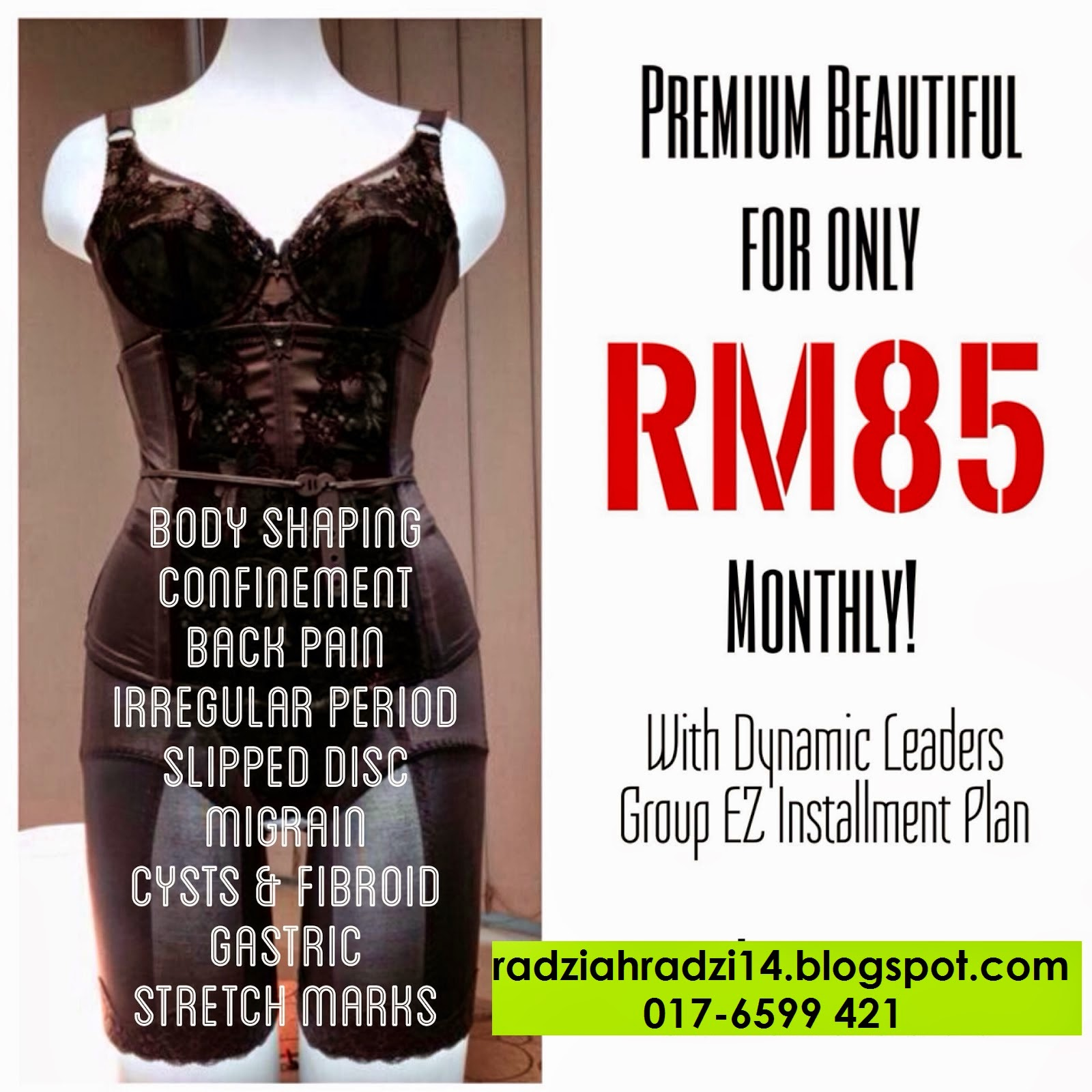 benefits, installment plan, premium beautiful, premium beautiful corset, premium beautiful elegance, promosi, sakit belakang, slipped disc, bengkung, ansuran
