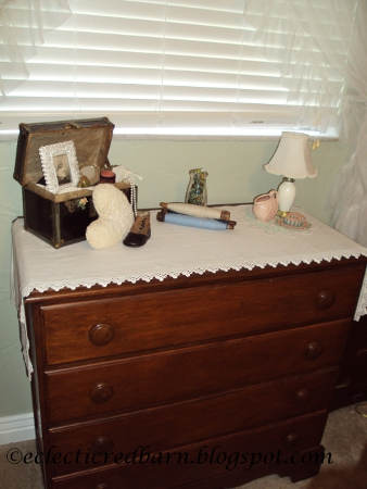 Eclectic Red Barn: Vintage doll box and vintage dresser