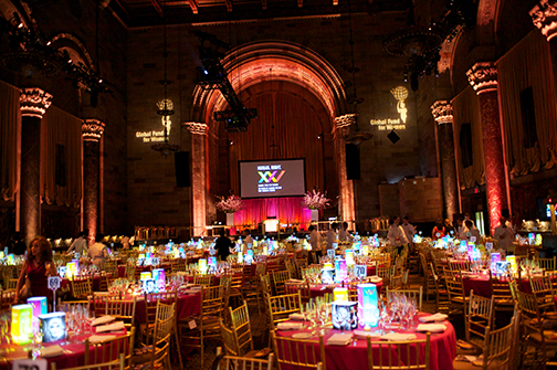 Illuminated Centerpieces at the Cipriani, New York